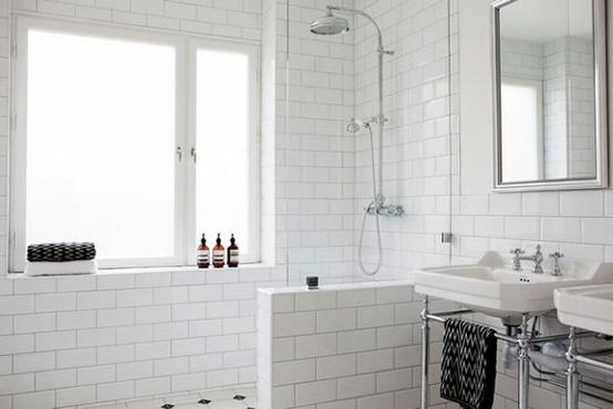 Badeværelse, toilet, fliser, hvidt, hvide, fuge, gul, colorama ...