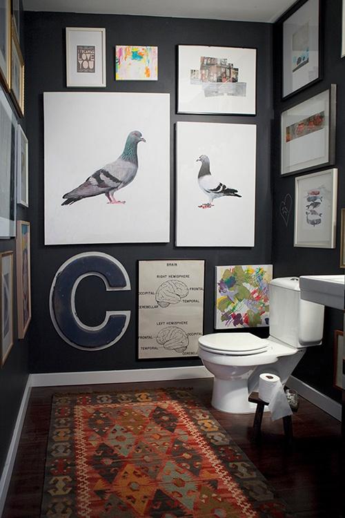 Galleri på badeværelset