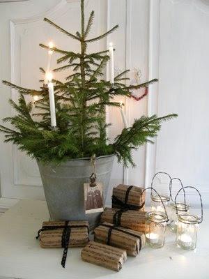 Jul julepynt adventskrans juletrae klassisk mos indretning bolig