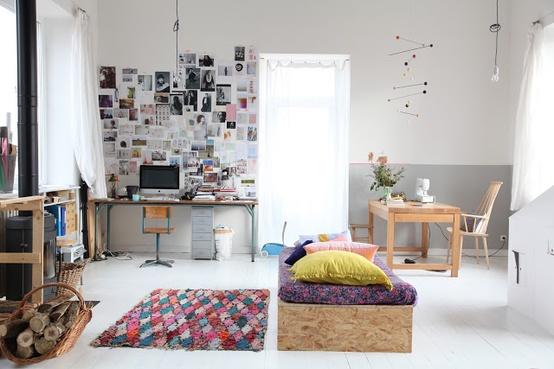 Bolig indretning studiebolig lejlighed lille stue sovevaerelse