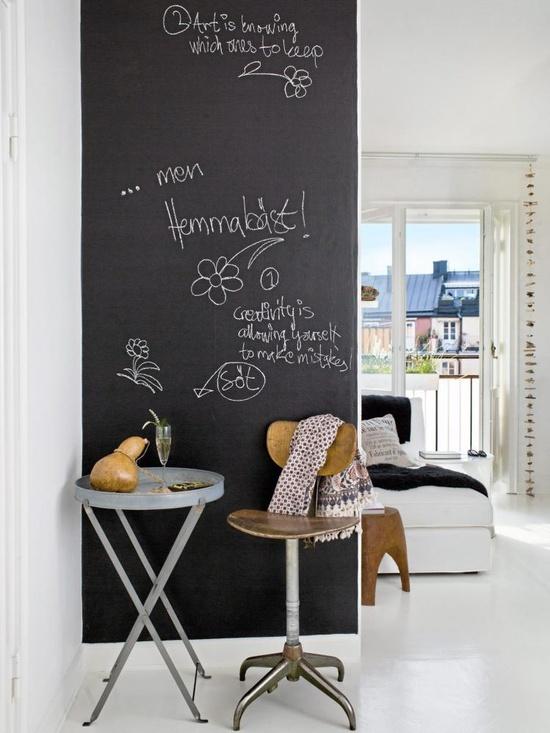 Du kan også kaste dig ud i en sort væg, med tavlelak!