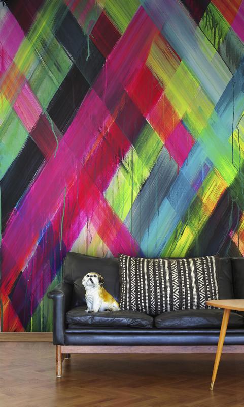 Tapet-fotostat-stof-indretning-boligindretning-wallpaper-maleri-neon