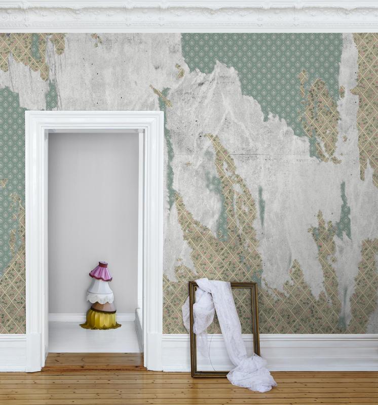 Tapet-fotostat-stof-indretning-boligindretning-wallpaper-vaegtaeppe-blomster-vintage