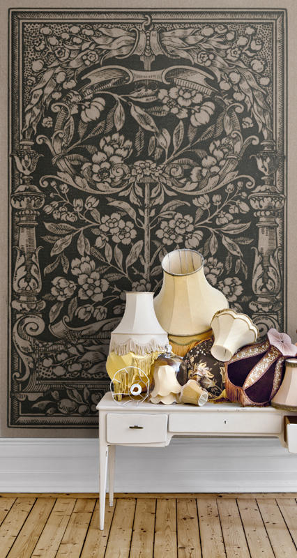 Tapet-fotostat-stof-indretning-boligindretning-wallpaper-vaegtaeppe