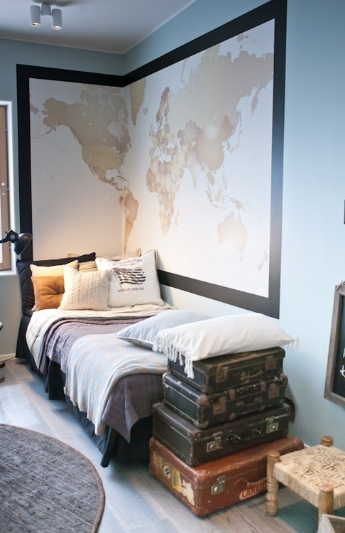 Kilde: http://meggielynne.tumblr.com/post/37412917258/ppussies-interior-style-guest-room-your