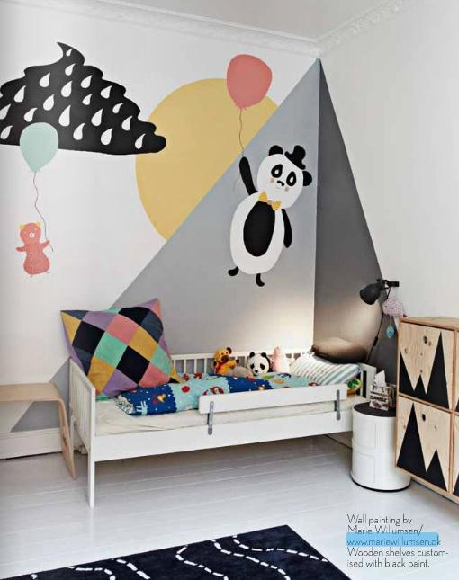 vaegdekoration-mal-indretning-bolig-boernevaerelse-baby-dreng-pige-panda