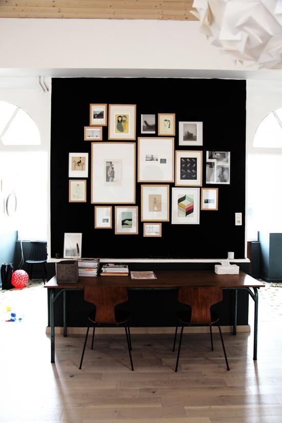 Tre cool kontorpladser i stuen!