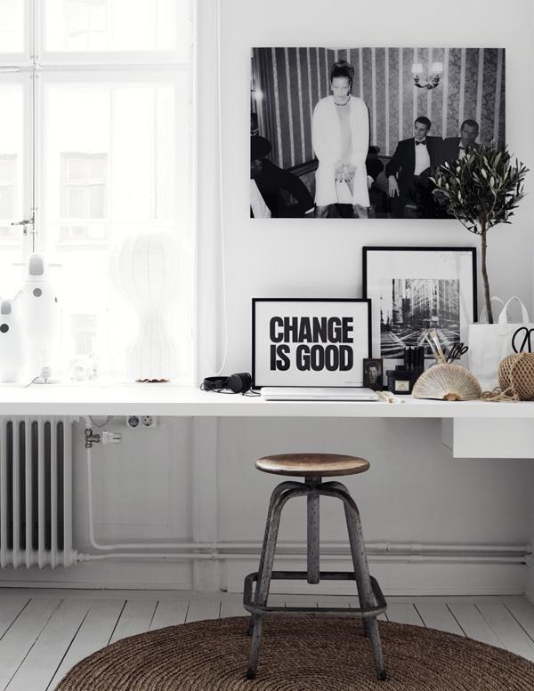sort-hvid-bolig-indretning-boligindretning-interior-stilleben ...
