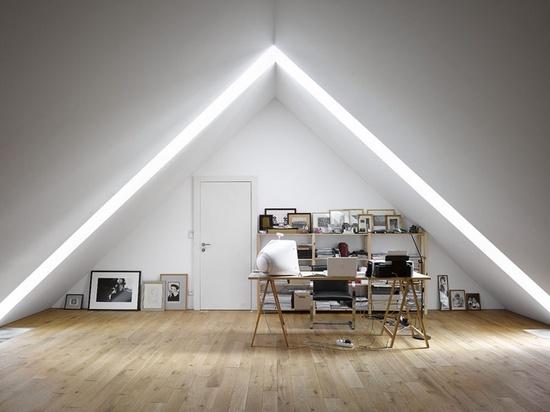 Hyggelige rum med skrå vægge