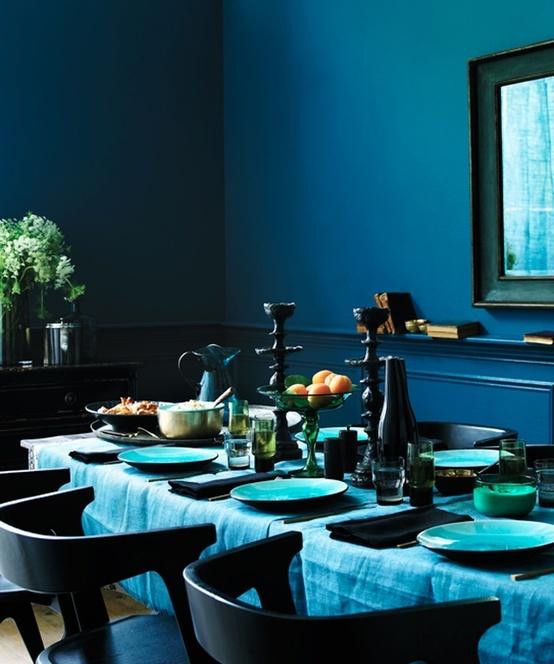 turkis-blå-indretning-spisestue