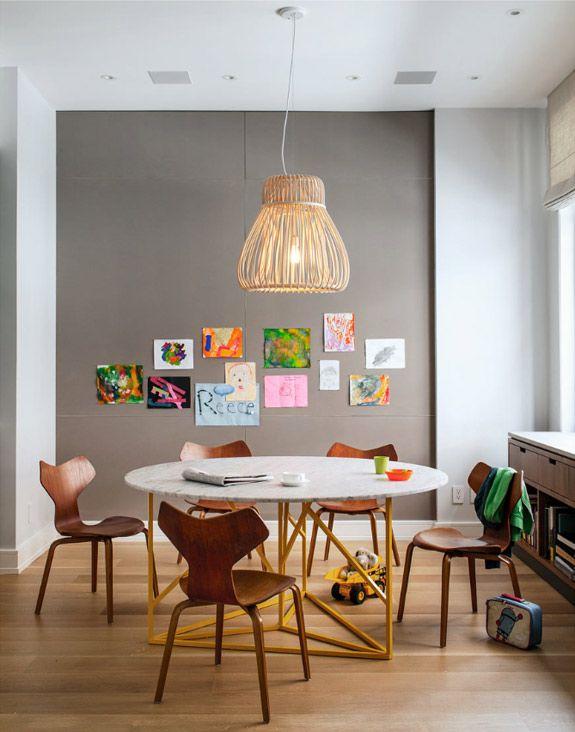 Spisestuer med gr v gge beckers maling for Room and board kids table