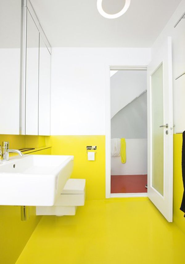 gul-yellow-bathroom-badevaerelse