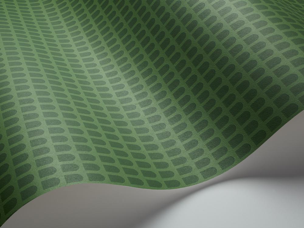 Arcade er et lIdt vildere med den heftige smukke grønne farve, men stadig med et diskret mønster.