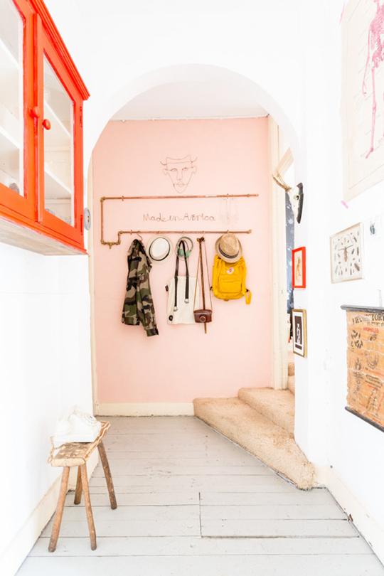 rosa væg