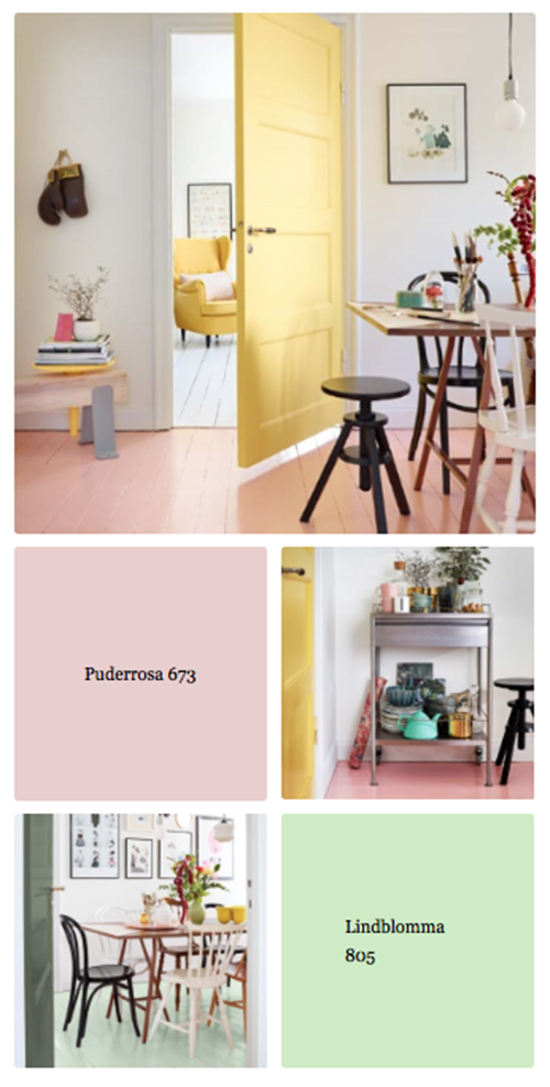 Mal gulvet i en dristig farve
