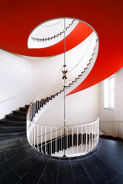 rød trappe