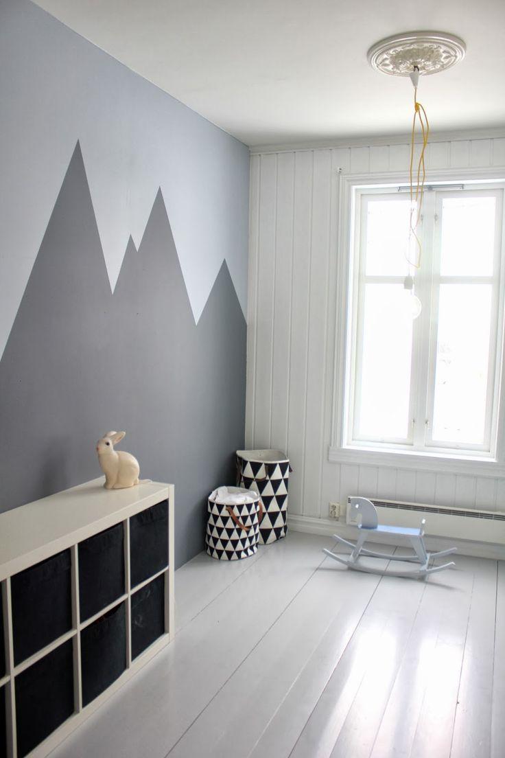 bjerge på væggen